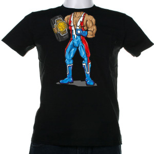A Luchador body t-shirt. All you need now is your mask.
