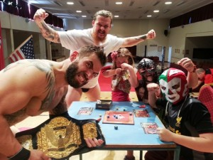 Backspindle Games had real wrestlers enjoying Luchador! with their young fans in Newtownards