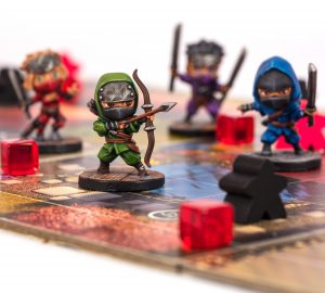 Painted Chibi Ninja miniatures