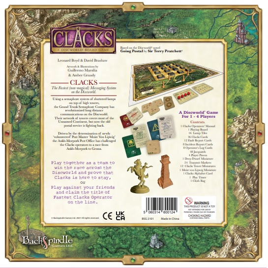 Collector's Clacks Box back